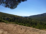 Made it over the top - road down Cassis