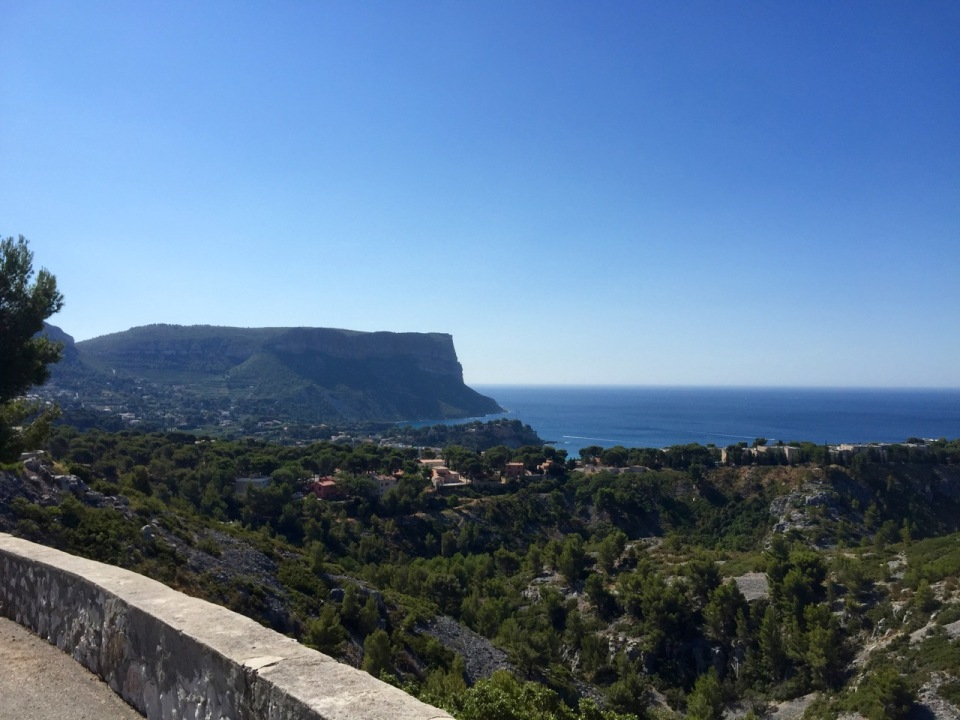 Cassis - the road was jammed with traffic