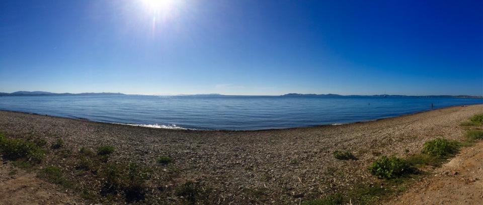 Hyères beach panorama