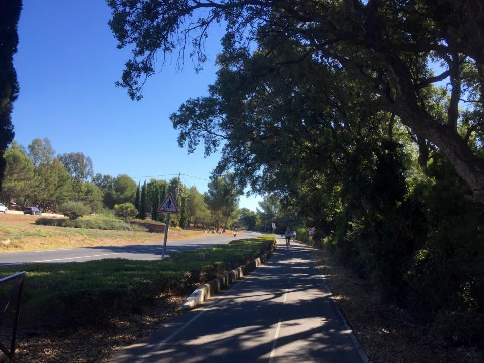 Pedalling along the cycle path, La Londe-les-Maures