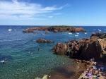 Saint-Raphaël beach and island