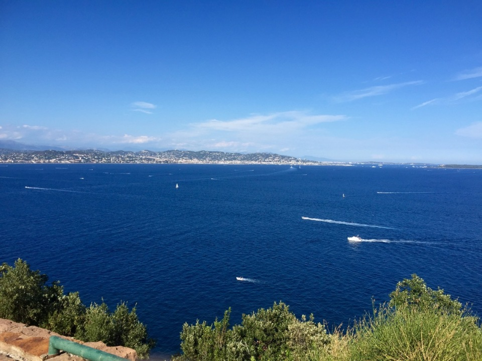 Looking over to Cannes