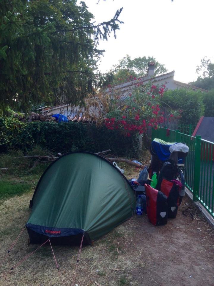 Morning at Camping de l'Argentiere, Mandelieu-la-Napoule