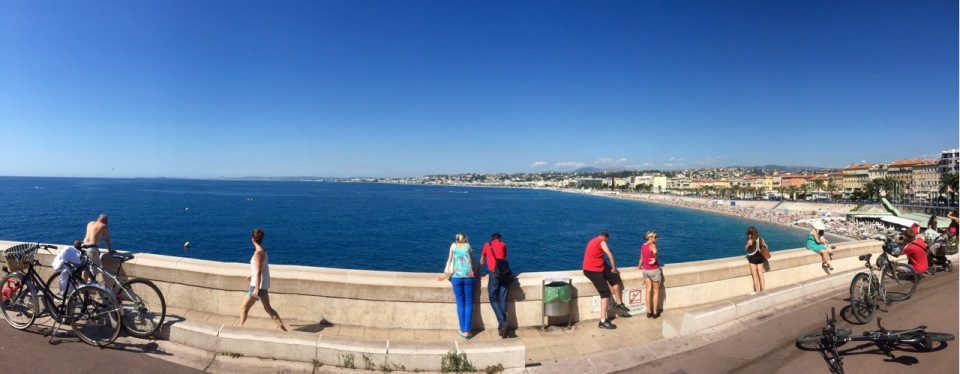 Looking back to Nice - panorama