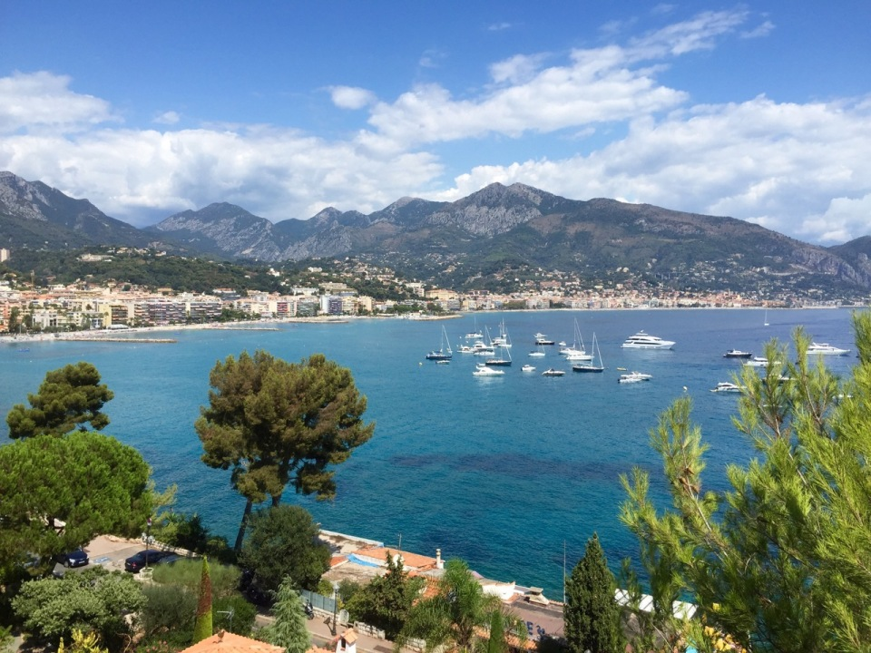 View down to Menton from Roquebrune-Cap-Martin
