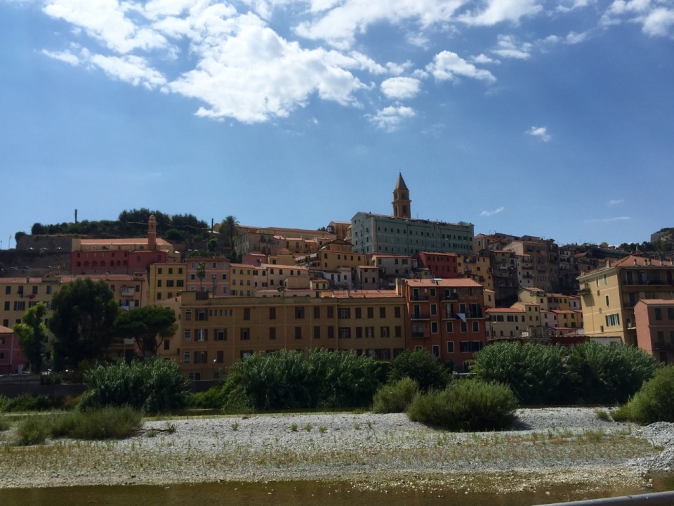 Ventimiglia, Liguria, Italy - buildings different to France