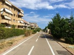 Long cycle path to San Lorenzo