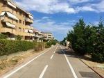Long cycle path to San Lorenzo