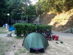 Villa Doria camping; tent set up