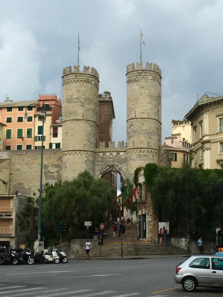 Part of old city wall ( I think), Genoa