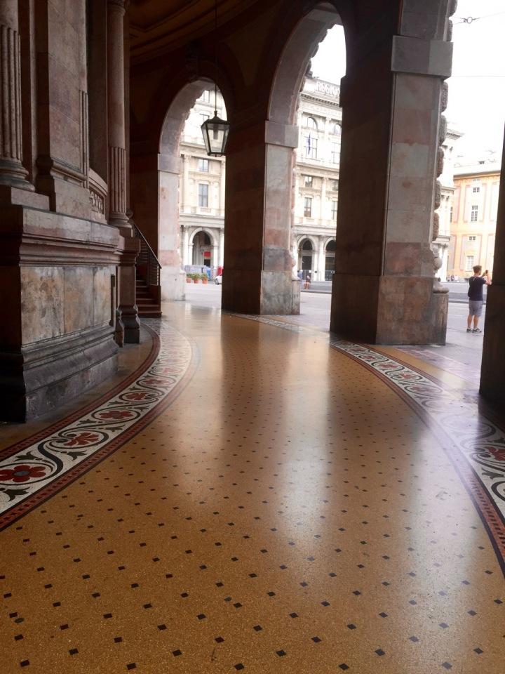 Extravagant pavement, Genoa