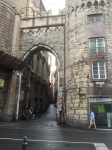 Old entrance to narrow Genoa streets