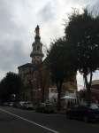 Made it Tortona, gold statue on top of this church seen from afar
