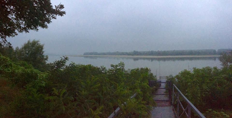 A wet morning next to the Po River