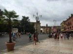 Verona city centre - bustling with tourists