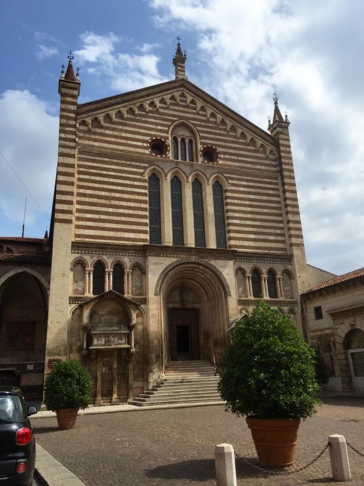 Stripy church, Verona