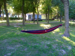 Hammock time in Altanea Camping, Duna Verde