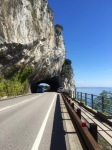 Road to Trieste, short but dramatic tunnel