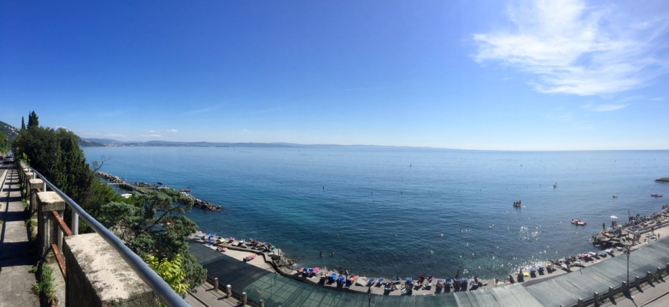 Panorama with Trieste in the distance