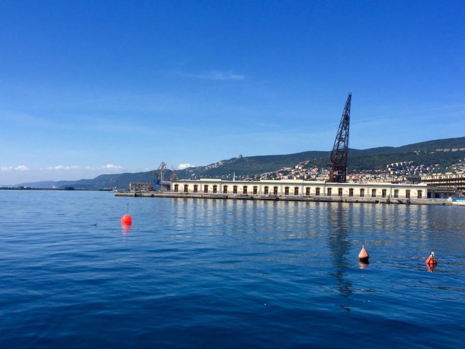 Trieste harbour - looking back North