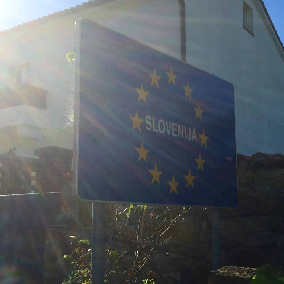 Sign confirms I've made it to Slovenia