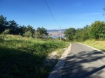 Looking back to Trieste from top of steep climb