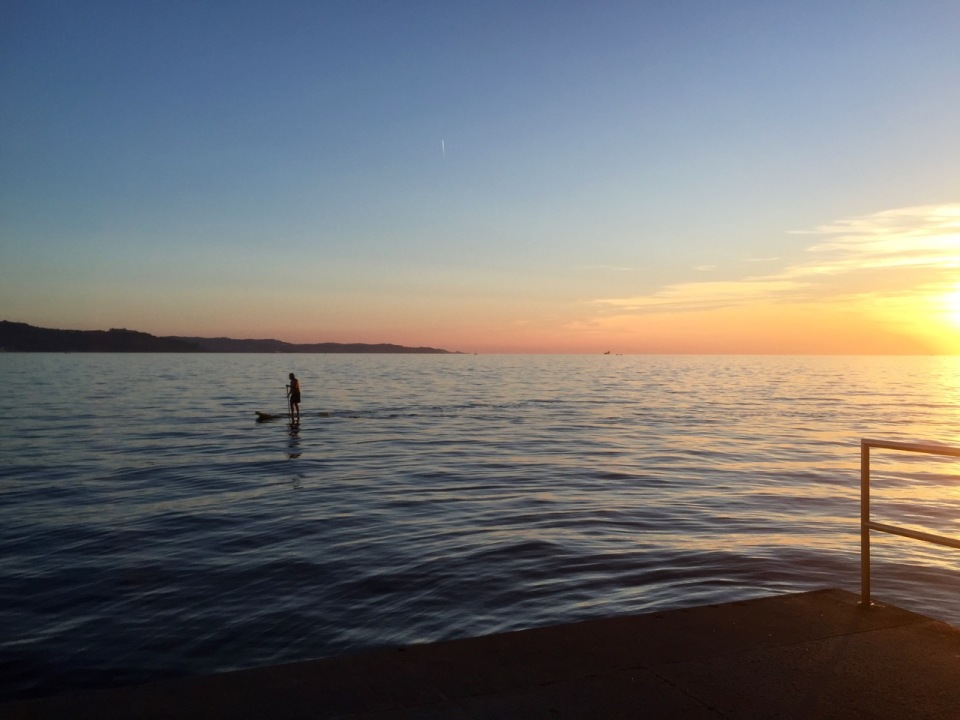 Some sunset stand-up paddle board (SUP) action
