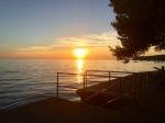 Sun going down over the Adriatic, Slovenia