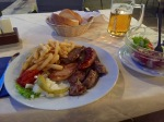 Mixed grill at Adria Camping, very fine