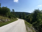 Road into Croatia, still very green and quiet