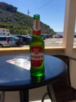 Cold beer, it would be rude not to whilst waiting for ferry