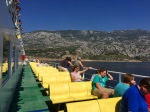 Ferry to Pag; looking back to Prizna