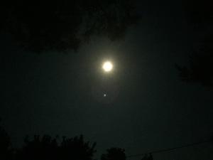 Full moon over Pag, Croatia