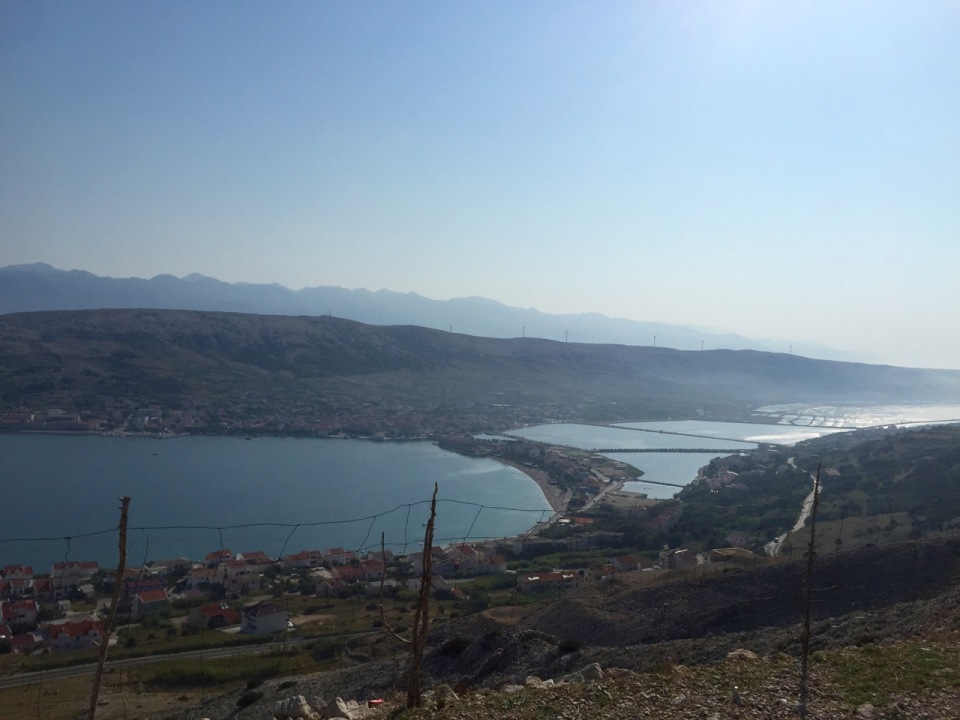 The town of Pag, on Pag, Croatia