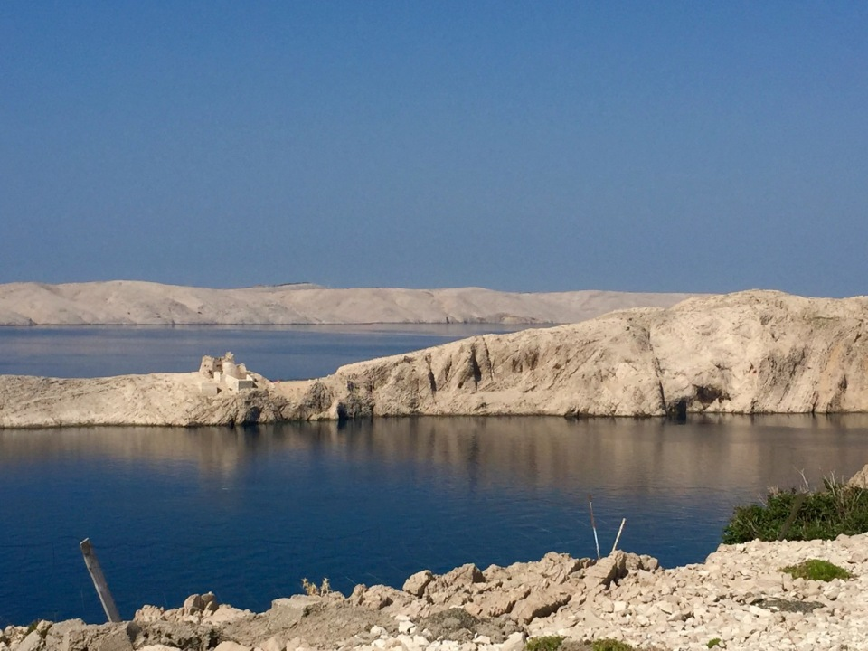 Close of of castle, Pag; looks like a film set