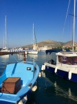 Trogir harbour with castle in background