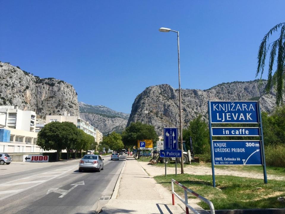 Imposing cliffs in Omis