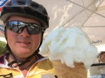 A very hot me with ice-cream number 2 of the day; lemon sorbet
