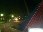 Nighttime hammock lounging and blog updating; makes a good office