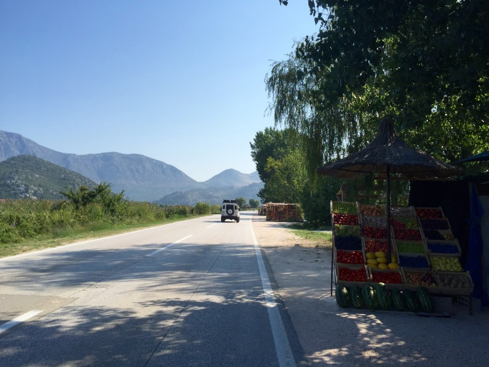 Roadside farm produce stall 1