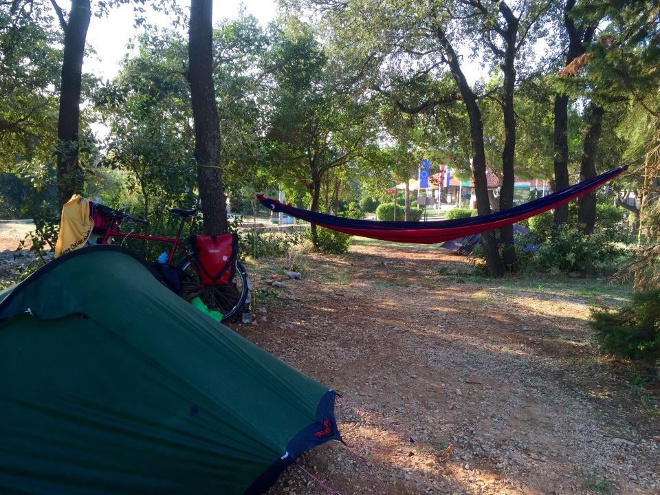 Set up at Camping Solitudo