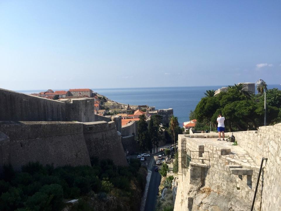 Impressive thick city walls