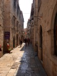 One of the narrower streets of Dubrovnik