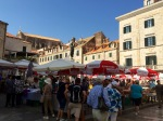 Market in one of the squares, Dubrovnik