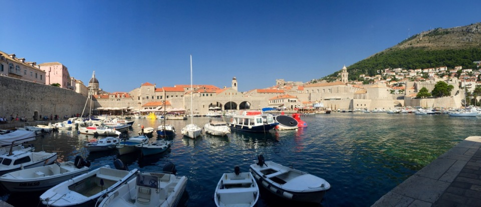 Old Dubrovnik harbour panorama