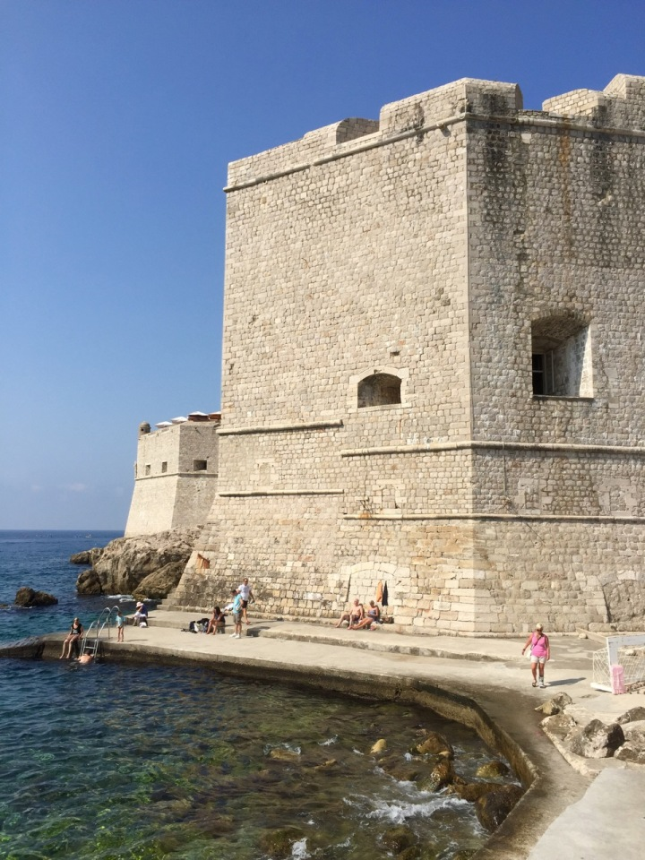 Tower bastion stands guard over harbour