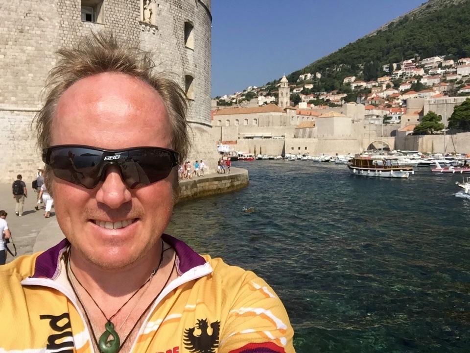 Me in Dubrovnik (forgot Lobster, whoops)