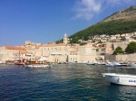 Dubrovnik harbour 3 - crowded with tourist boats, quite a lot of arguing going on