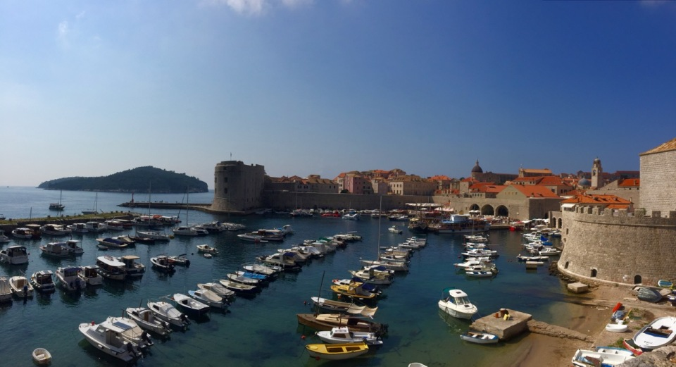 Dubrovnik Harbour from the Eastern Pile gate