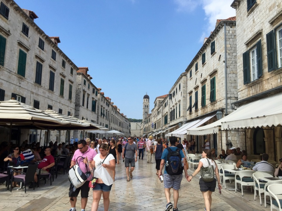 Main street leading back to Ploce gate